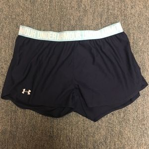 Navy/Light Blue Under Armor Women's Shorts